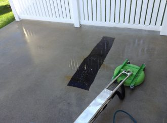 Newly Restored Hard Surface Cleaning & Restoration - Exterior Concrete Cleaning